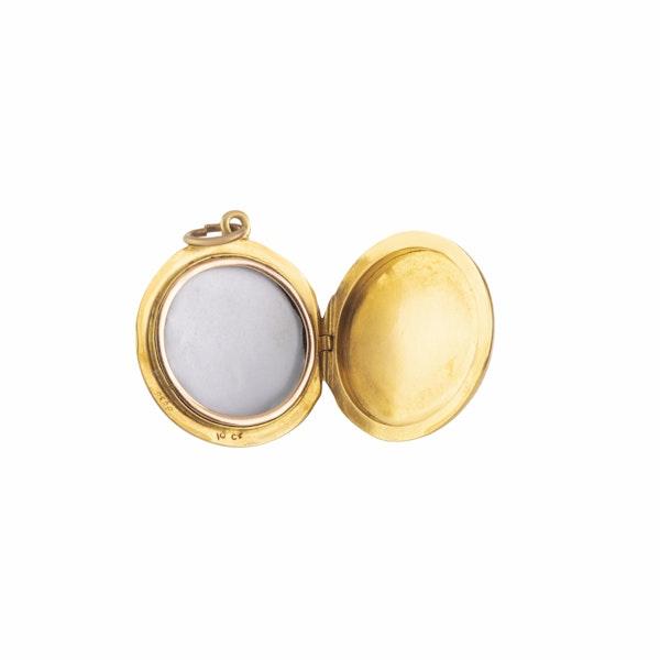 A Gold and Enamel Locket - image 2