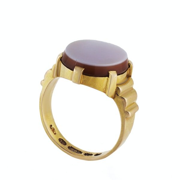 A Gold Carnelian Signet Ring by Edward Vaughton - image 2