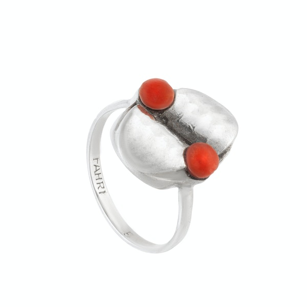 A Silver Coral Ring - image 2