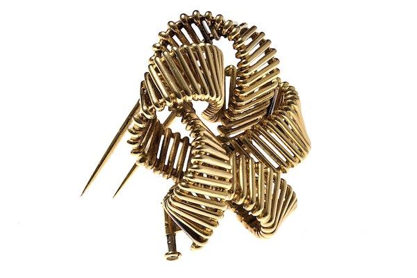 Vintage Hermes Gold Openwork Brooch circa 1950. - image 5