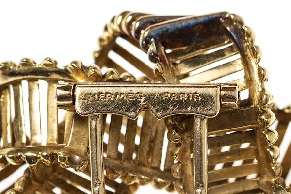 Vintage Hermes Gold Openwork Brooch circa 1950. - image 3
