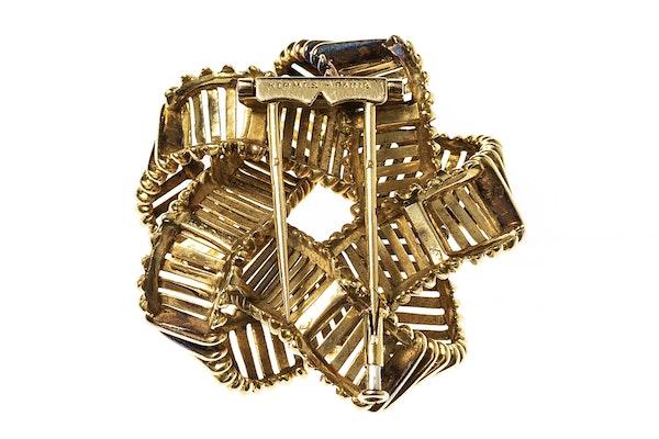 Vintage Hermes Gold Openwork Brooch circa 1950. - image 2
