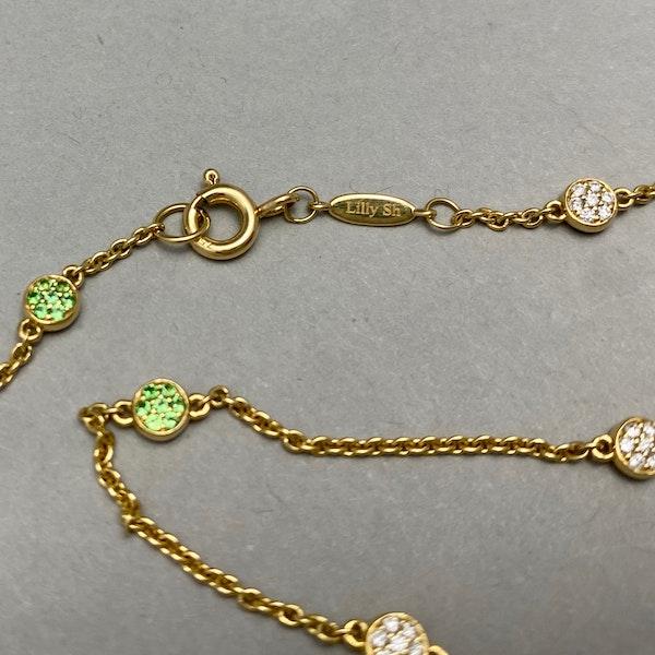 Tsavorite Diamond Chain in 18k Gold by Lilly SHAPIRO since2010, SHAPIRO & Co since1979 - image 6