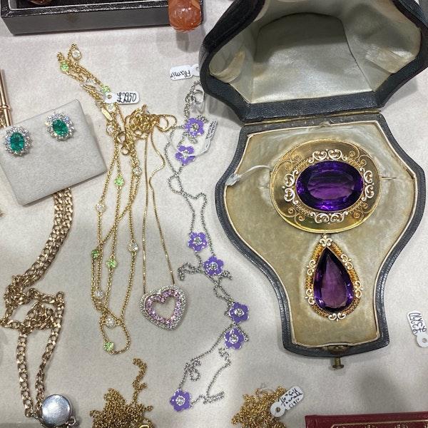 Tsavorite Diamond Chain in 18k Gold by Lilly SHAPIRO since2010, SHAPIRO & Co since1979 - image 9