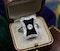 A very fine Art Deco Black Onyx & Diamond Plaque Ring set in Platinum, Circa 1930 - image 1