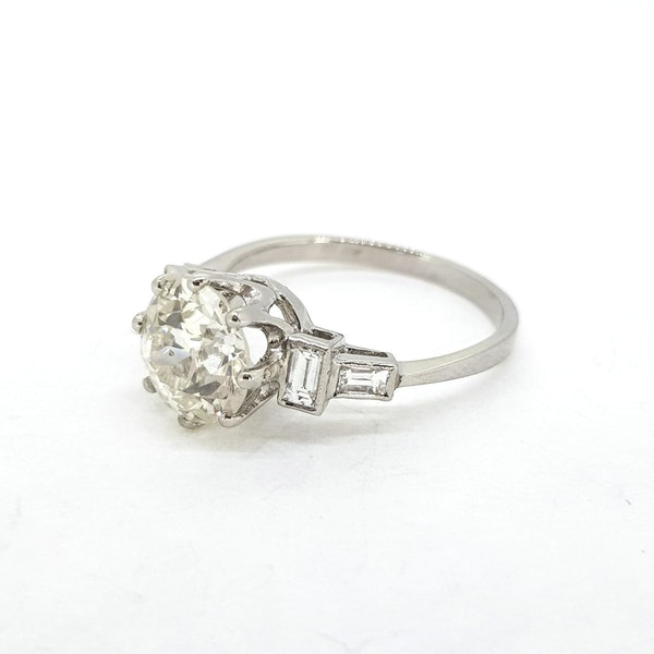 Old cut diamond rings 2.21ct - image 4