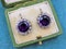 A very fine pair of Amethyst & Diamond Drop Earrings mounted in High Carat Yellow Gold & Platinum, English, Circa 1910 - image 3