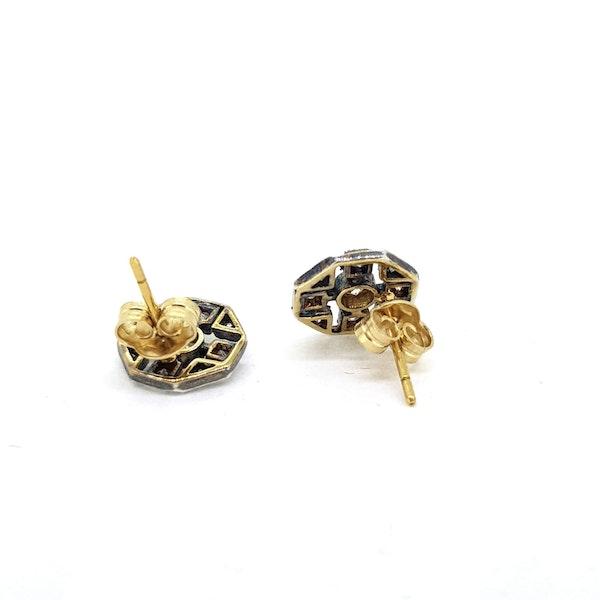 Silver-set Diamond earrings - image 2
