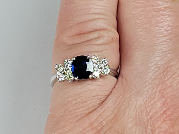 Sapphire and diamond engagement ring sku 4898  DBGEMS - image 3