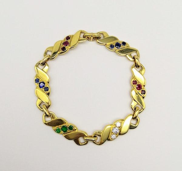 18ct yellow gold gemstone set bracelet by M. Gérard - image 1