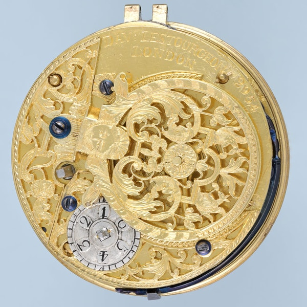 SILVER CHAMPLEVE DIAL WATCH BY LESTOURGEON - image 4