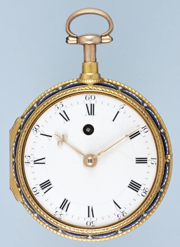 ENGLISH GOLD AND ENAMEL REPEATER - image 2