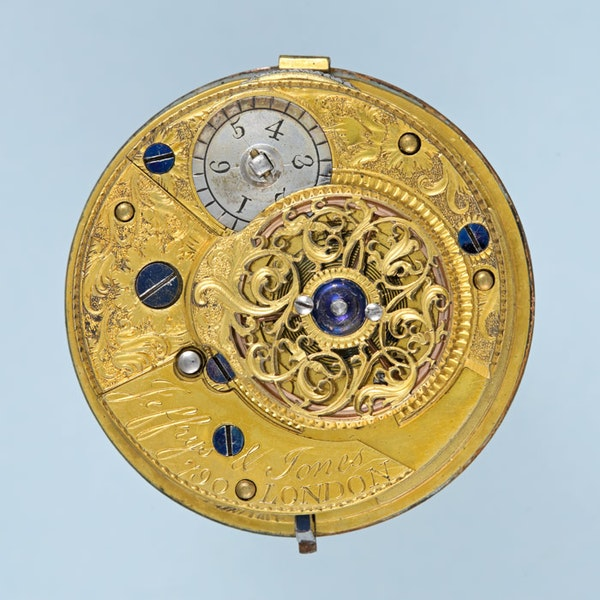PEARL SET GOLD AND ENAMEL ENGLISH WATCH - image 4