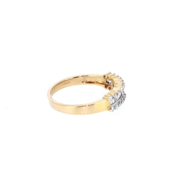 Fancy Baguette And Round Brilliant Diamond Ring.  S. Greenstein - image 4