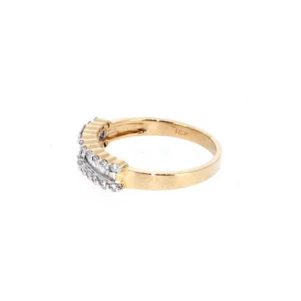 Fancy Baguette And Round Brilliant Diamond Ring.  S. Greenstein - image 2