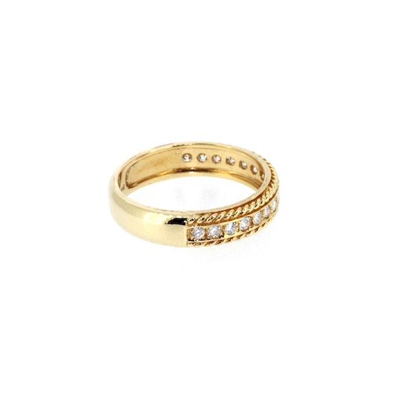Round Brilliant Diamond Half Eternity Ring.S. Greenstein - image 4