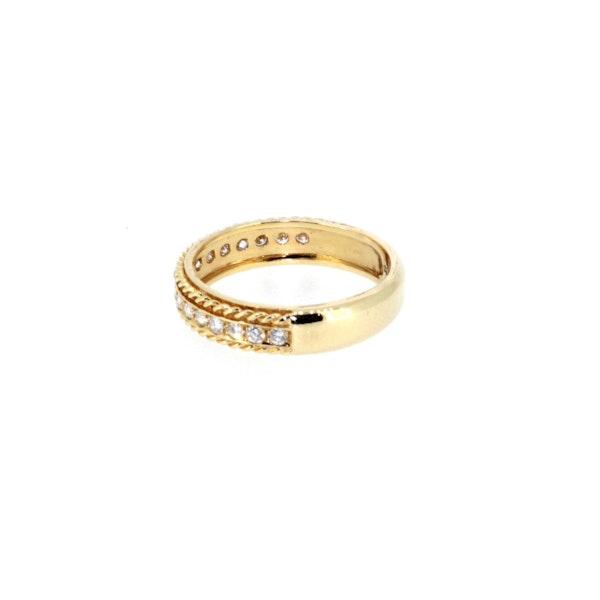 Round Brilliant Diamond Half Eternity Ring.S. Greenstein - image 2