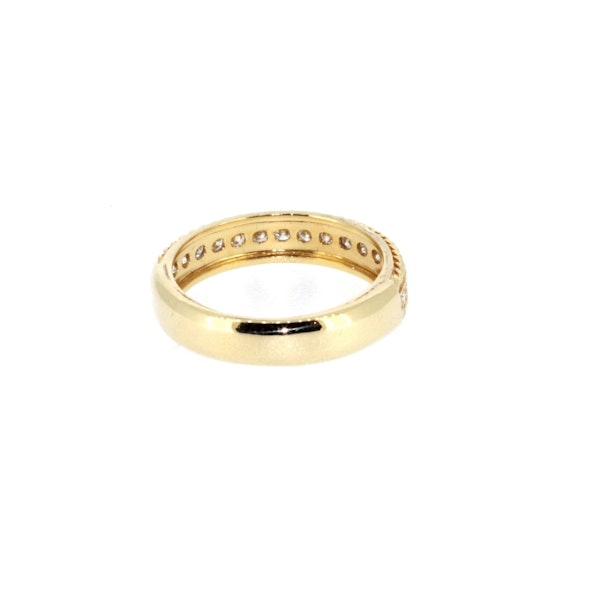 Round Brilliant Diamond Half Eternity Ring.S. Greenstein - image 3