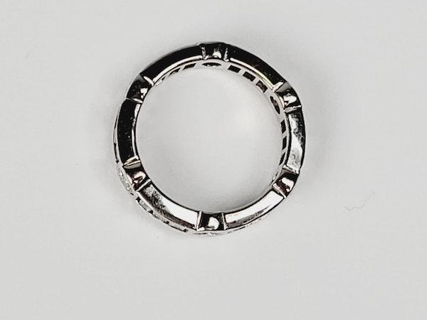 Eternity ring of portrait baguette diamonds with brilliant cut diamonds Sku 4907  DBGEMS - image 3