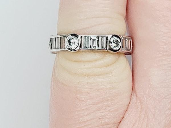 Eternity ring of portrait baguette diamonds with brilliant cut diamonds Sku 4907  DBGEMS - image 4