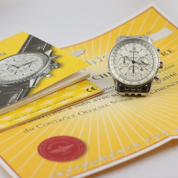Breitling Navitimer Montbrilliant ref A41330, Steel, Chronograph, 38mm, Papers - image 10