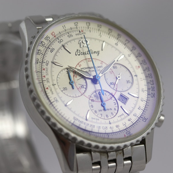 Breitling Navitimer Montbrilliant ref A41330, Steel, Chronograph, 38mm, Papers - image 4
