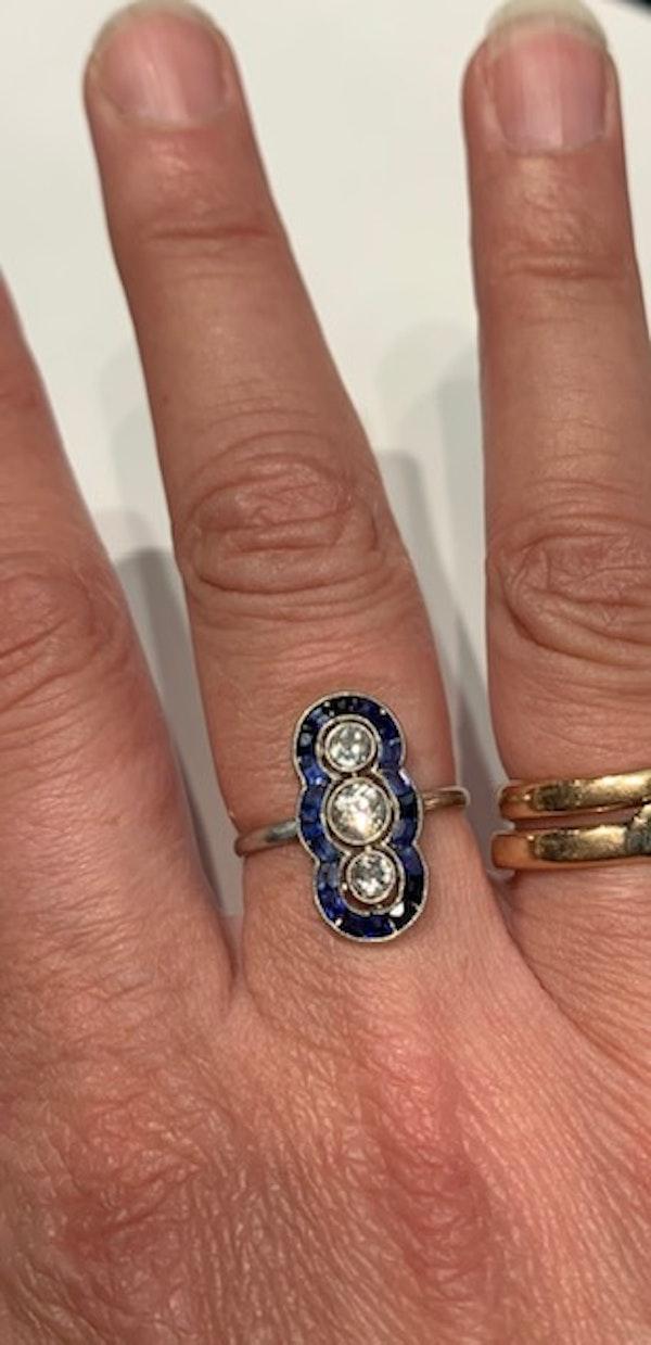 Art Deco sapphire diamond ring. Spectrum - image 3