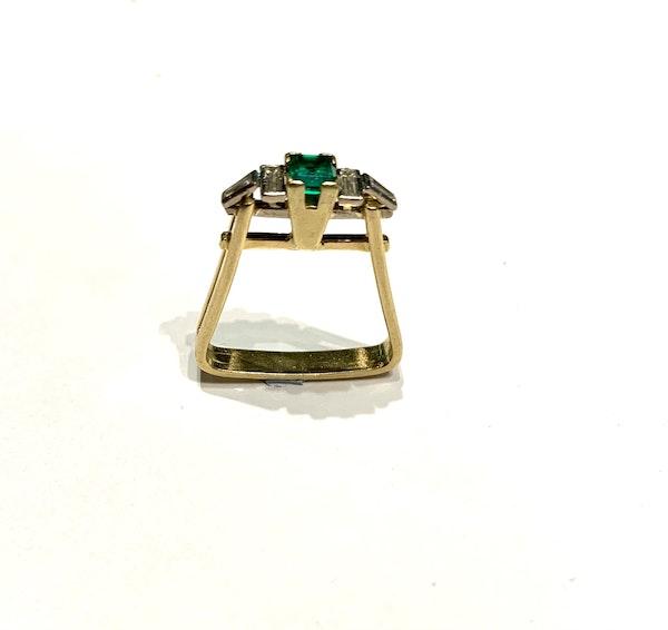 Emerald and diamond unique ring. Spectrum - image 1