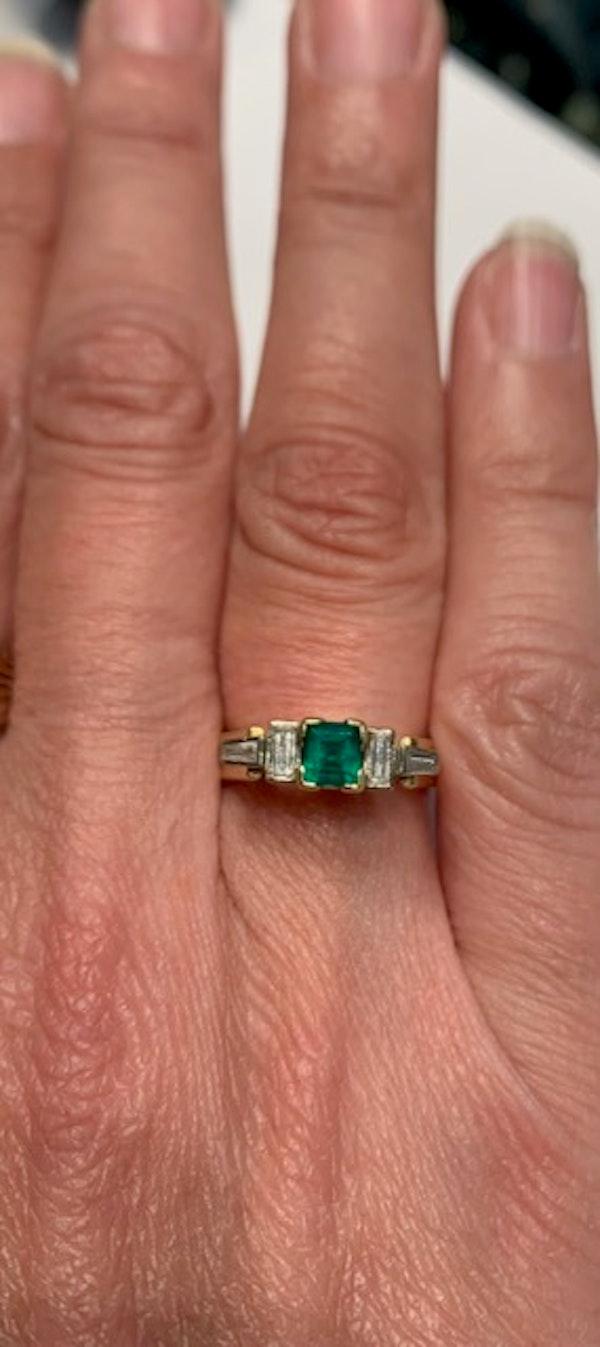 Emerald and diamond unique ring. Spectrum - image 2