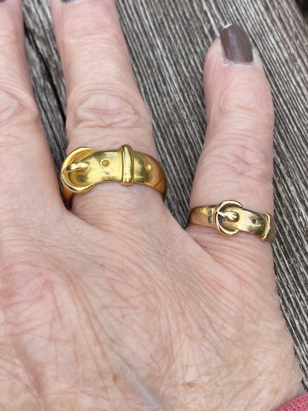 Late 19th Century Gold Buckle ring, 15 carat - image 3