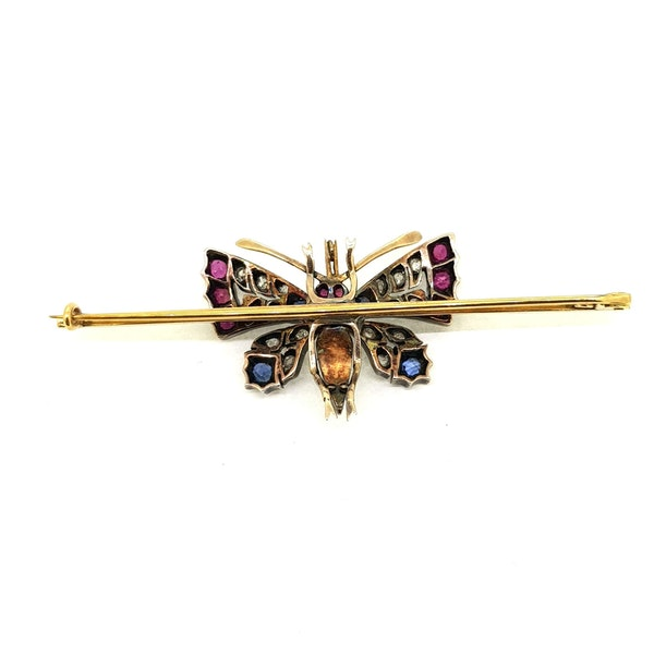Victorian Butterfly Pin Brooch - image 2