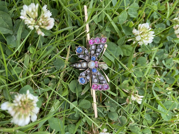 Victorian Butterfly Pin Brooch - image 3