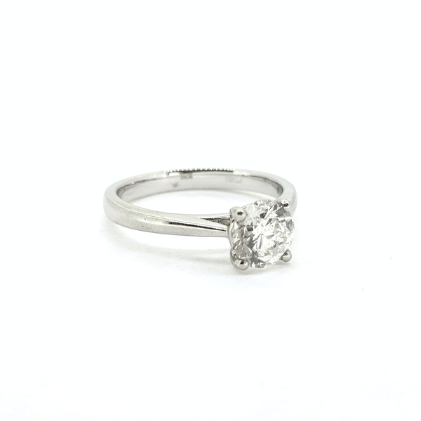 Diamond Solitaire ring, 1ct, F colour, IGI Certificate - image 3