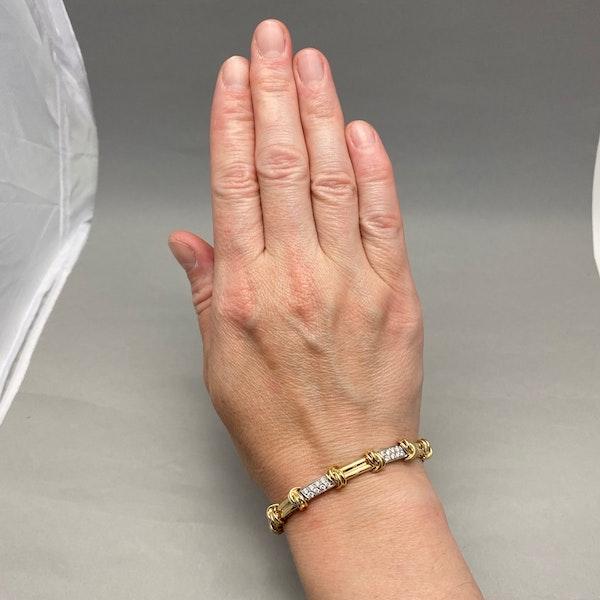 Gold Diamond Bracelet in 14ct Yellow/White Gold date circa 1980, SHAPIRO & Co since1979 - image 2