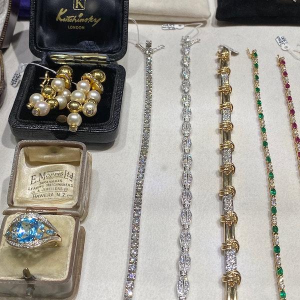 Gold Diamond Bracelet in 14ct Yellow/White Gold date circa 1980, SHAPIRO & Co since1979 - image 9