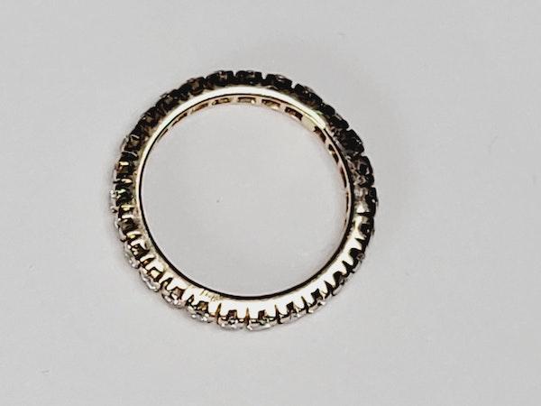 Full hoop diamond ring sku 4917  DBGEMS - image 2