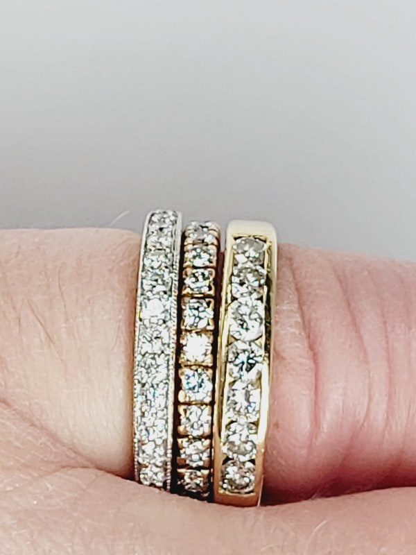 Full hoop diamond ring sku 4917  DBGEMS - image 4