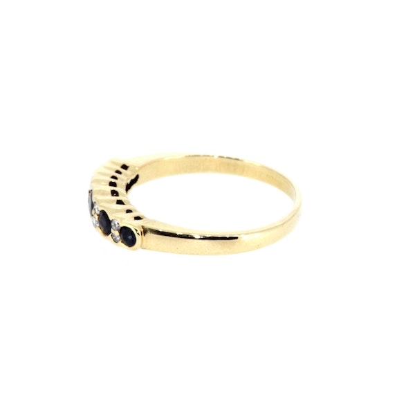 Sapphire And Diamond Half Eternity Ring. S. Greenstein - image 2