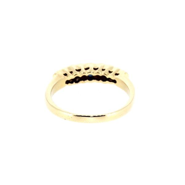 Sapphire And Diamond Half Eternity Ring. S. Greenstein - image 3