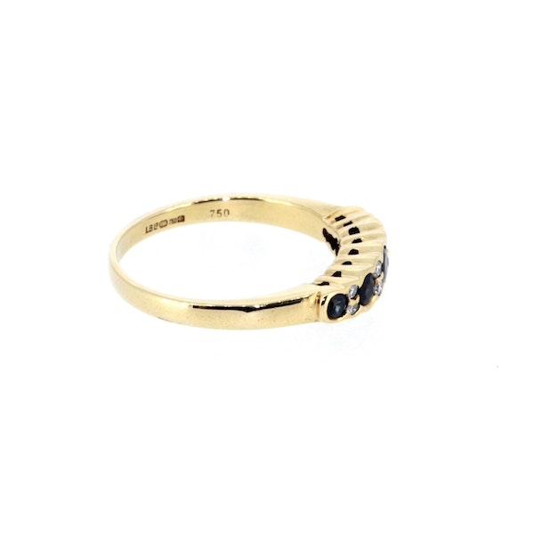 Sapphire And Diamond Half Eternity Ring. S. Greenstein - image 4