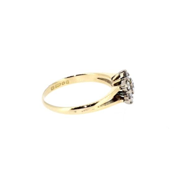Diamond Flower Cluster Ring. S. Greenstein - image 4