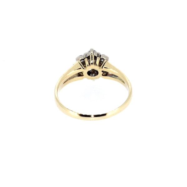 Diamond Flower Cluster Ring. S. Greenstein - image 3