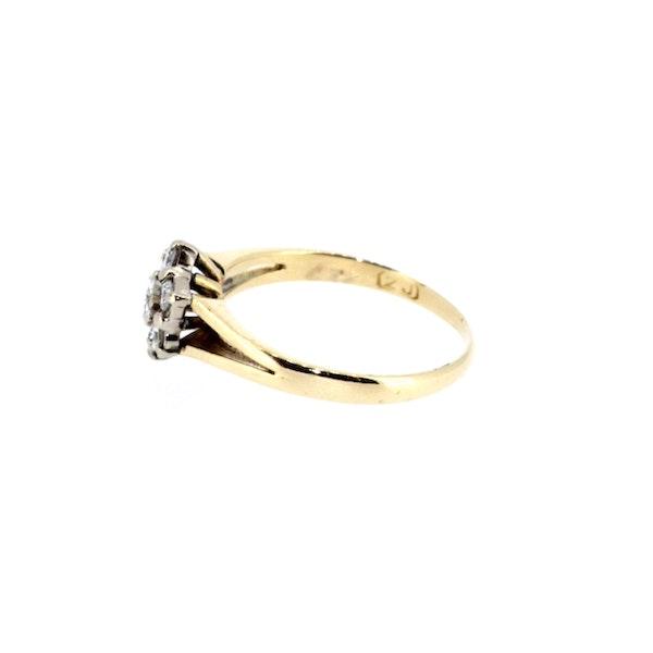 Diamond Flower Cluster Ring. S. Greenstein - image 2
