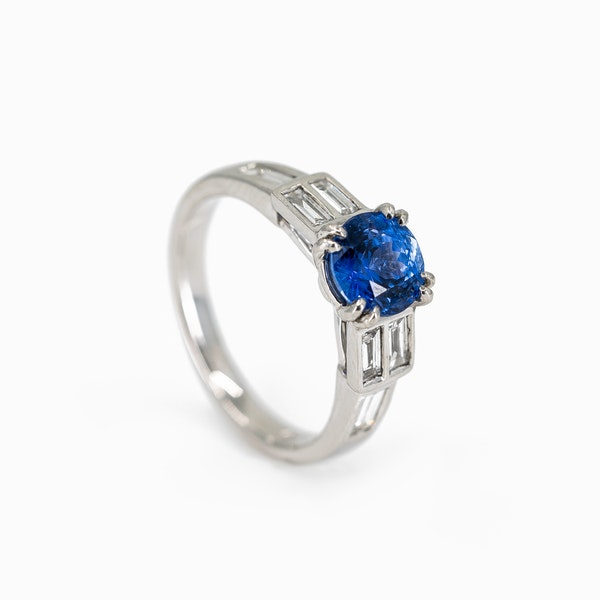 A Sapphire and Diamond Ring Offered by The Gilded Lily - image 2