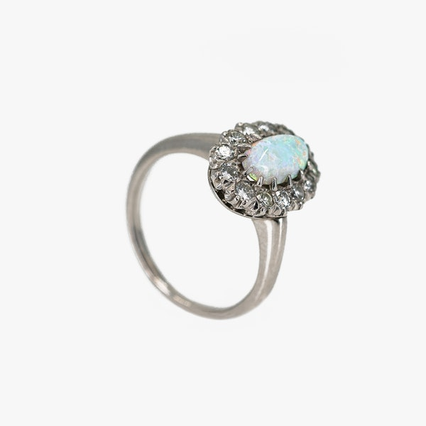 A White Opal Period Cluster Ring Offered by The Gilded Lily - image 2