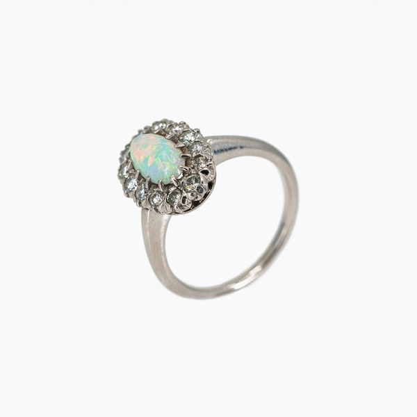 A White Opal Period Cluster Ring Offered by The Gilded Lily - image 3