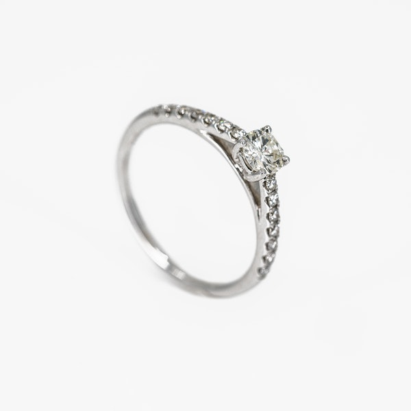 A One Third of a Carat Solitaire Diamond Ring Offered by The Gilded Lily - image 2