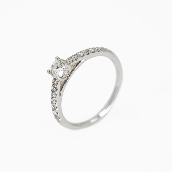 A One Third of a Carat Solitaire Diamond Ring Offered by The Gilded Lily - image 3