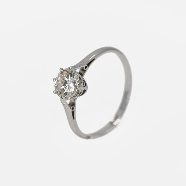 A Solitaire Diamond Ring Set with a .97cts Brilliant Cut Diamond Offered by The Gilded Lily - image 3