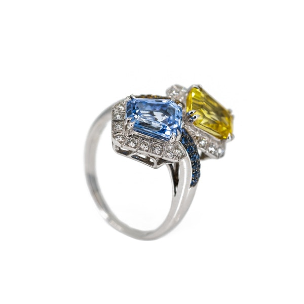 A Sapphire Cocktail Ring by Chatila Offered by The Gilded Lily - image 2